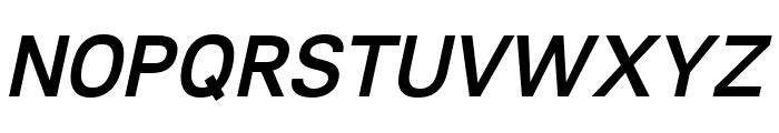Lunchtype21 Medium Italic Font UPPERCASE