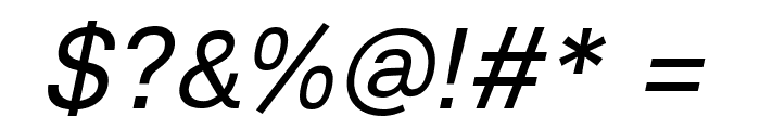 Lunchtype23 Italic Font OTHER CHARS