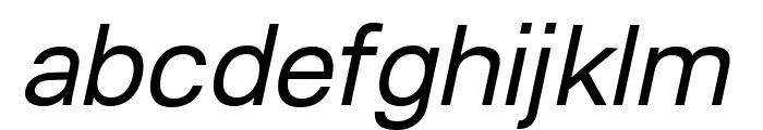 Lunchtype23 Italic Font LOWERCASE