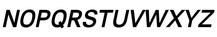 Lunchtype23 Medium Italic Font UPPERCASE
