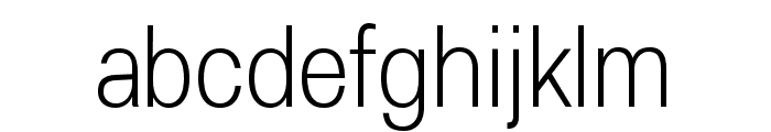 Lunchtype25 Condensed Light Font LOWERCASE