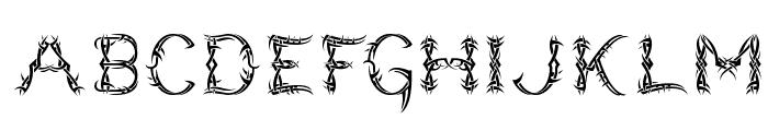 Lupus Blight Font LOWERCASE