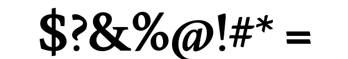 Lusitana Bold Font OTHER CHARS