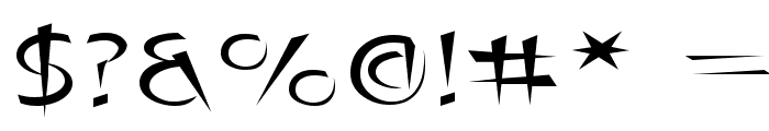Luteous Exodus Font OTHER CHARS