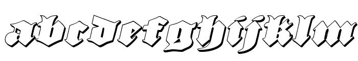 Lux Contra Tenebras 3D Italic Font LOWERCASE