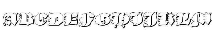 Lux Contra Tenebras 3D Font UPPERCASE