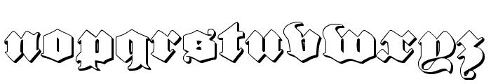 Lux Contra Tenebras 3D Font LOWERCASE