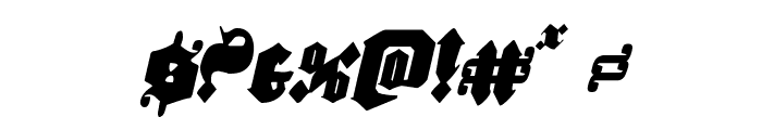 Lux Contra Tenebras Condensed Italic Font OTHER CHARS