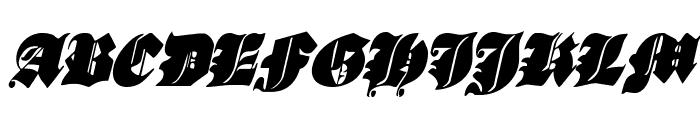 Lux Contra Tenebras Condensed Italic Font UPPERCASE
