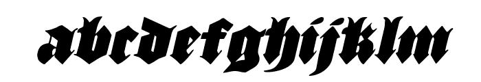 Lux Contra Tenebras Condensed Italic Font LOWERCASE