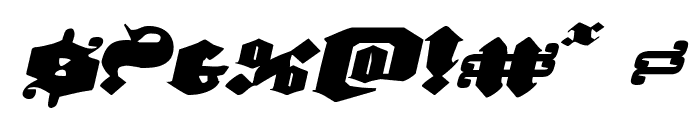 Lux Contra Tenebras Expanded Italic Font OTHER CHARS