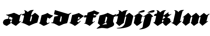 Lux Contra Tenebras Expanded Italic Font LOWERCASE