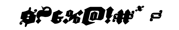 Lux Contra Tenebras Italic Font OTHER CHARS