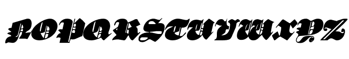 Lux Contra Tenebras Italic Font UPPERCASE