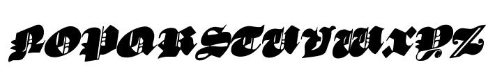 Lux Contra Tenebras Rotatalic Font UPPERCASE