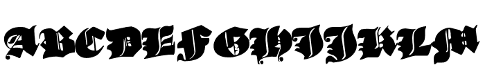 Lux Contra Tenebras Rotated Font UPPERCASE