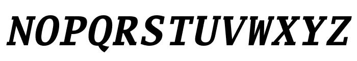 Luxi Mono Bold Oblique Font UPPERCASE