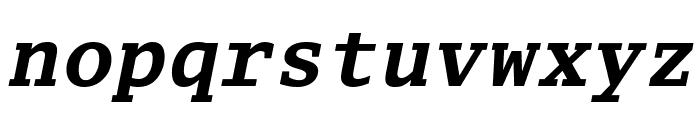 Luxi Mono Bold Oblique Font LOWERCASE