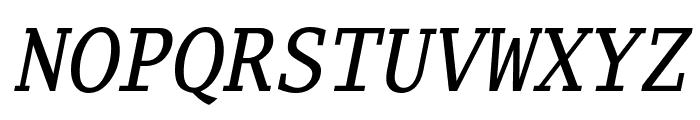 Luxi Mono Oblique Font UPPERCASE