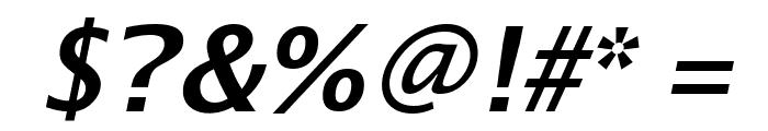 Luxi Sans Bold Oblique Font OTHER CHARS