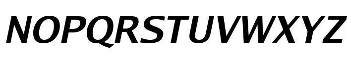 Luxi Sans Bold Oblique Font UPPERCASE