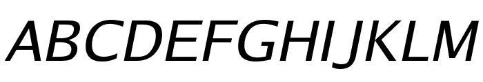 Luxi Sans Oblique Font UPPERCASE