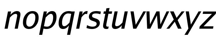Luxi Sans Oblique Font LOWERCASE