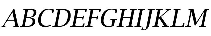 Luxi Serif Oblique Font UPPERCASE