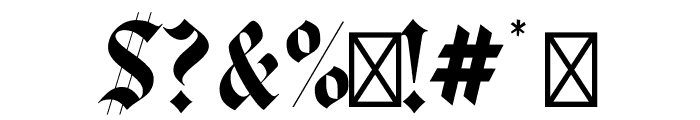 Luxus Gothic Regular Font OTHER CHARS