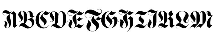 Luxus Gothic Regular Font UPPERCASE
