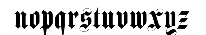 Luxus Gothic Regular Font LOWERCASE