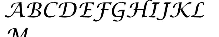 Lucida Calligraphy Regular Font UPPERCASE
