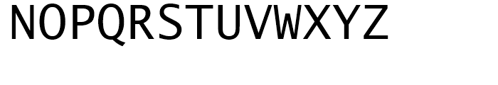 Lucida Sans Typewriter Regular Font UPPERCASE
