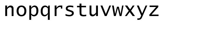 Lucida Sans Typewriter Regular Font LOWERCASE