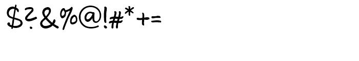 Luedickital Regular Font OTHER CHARS