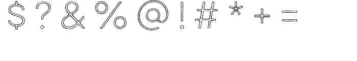 Lulo Outline Font OTHER CHARS