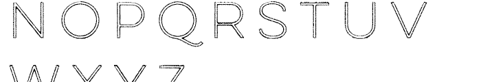 Lulo Outline Font UPPERCASE