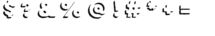 Lulo Two Bold Font OTHER CHARS