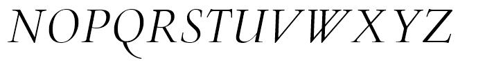 Lutetia Nova Book Italic Font UPPERCASE