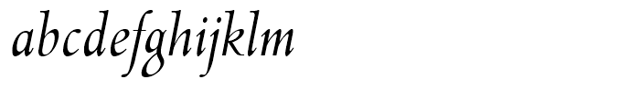 Lutetia Nova Book Italic Font LOWERCASE