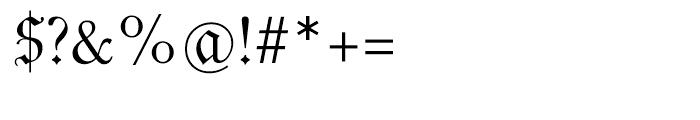 Luthersche Fraktur Regular Font OTHER CHARS