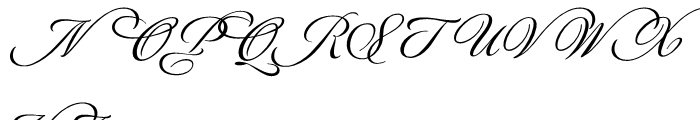 Luxurious Script Font UPPERCASE
