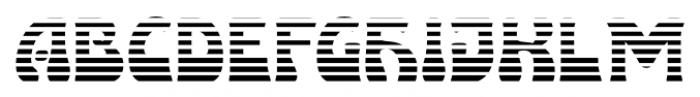 Lugano  Alternate Striped Font LOWERCASE