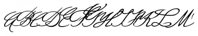Luitpold Handwriting Regular Font UPPERCASE