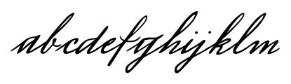 Luitpold Handwriting Regular Font LOWERCASE