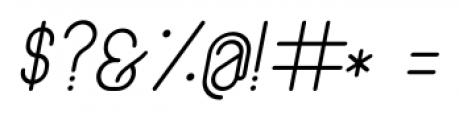 Lunar Light Italic Font OTHER CHARS