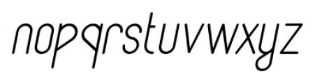 Lunar Light Italic Font LOWERCASE