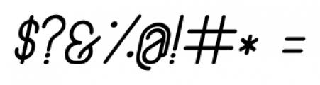 Lunar Medium Italic Font OTHER CHARS
