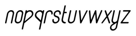Lunar Medium Italic Font LOWERCASE