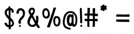 LunchBox Regular Font OTHER CHARS